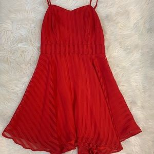Jack Red Dress with Stripes